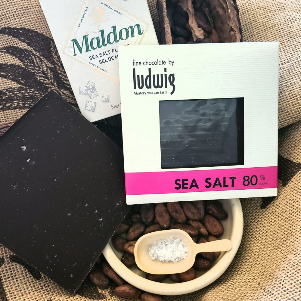Sea salt chocolate square