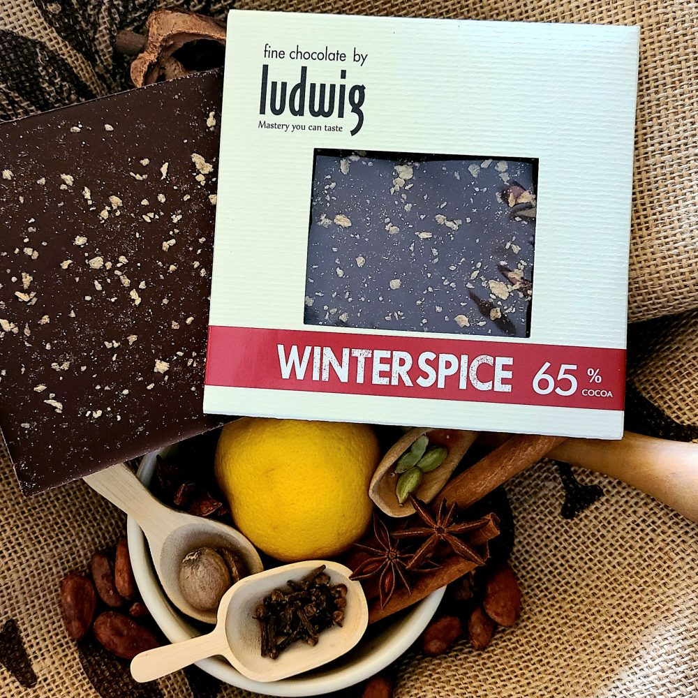 Winterspice chocolate square